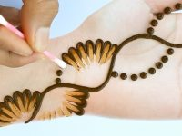 Easy Simple Mehndi design - cotton bud Mehendi design front hand - Arabic Mehndi Design 2020 13