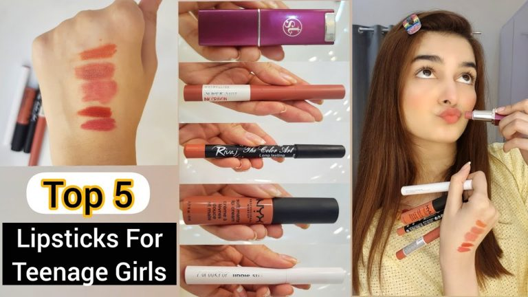 Top 5 Lipsticks For Teenage Girls || Affordable & Fresh Colours 1