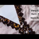 Easy Kurti Front Neck Design Cutting and Stitching || Neck Design For Kurti/Suit || Neck Design 1