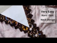 Easy Kurti Front Neck Design Cutting and Stitching || Neck Design For Kurti/Suit || Neck Design 34