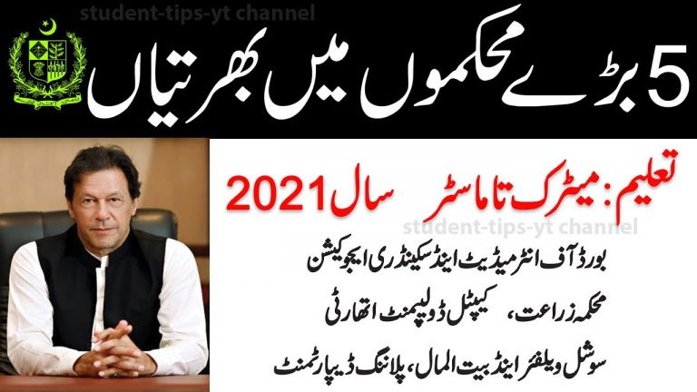 New Government jobs in Pakistan 2021, All Latest Jobs today