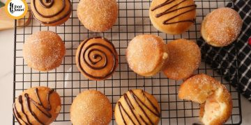 Carrot Custard Donuts Recipe by food fusion