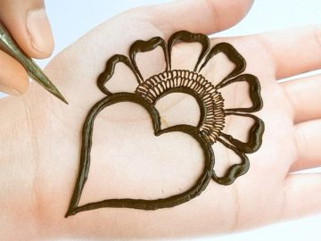Very easy trick Mehendi design front hand simple - Arabic mehndi design - मेहंदी लगाना सीखें 7