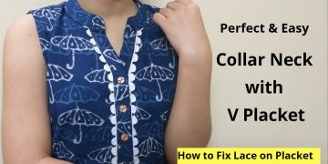 Collar Kurti Neck Design With V Placket || Neck Design || Easy cutting and stitching 17