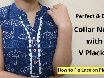 Collar Kurti Neck Design With V Placket || Neck Design || Easy cutting and stitching 11