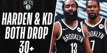 KD & Harden Combine For 42 Of Their 64 In The 2nd Half To Power The Nets 🔥 14