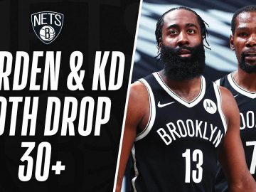 KD & Harden Combine For 42 Of Their 64 In The 2nd Half To Power The Nets 🔥 3