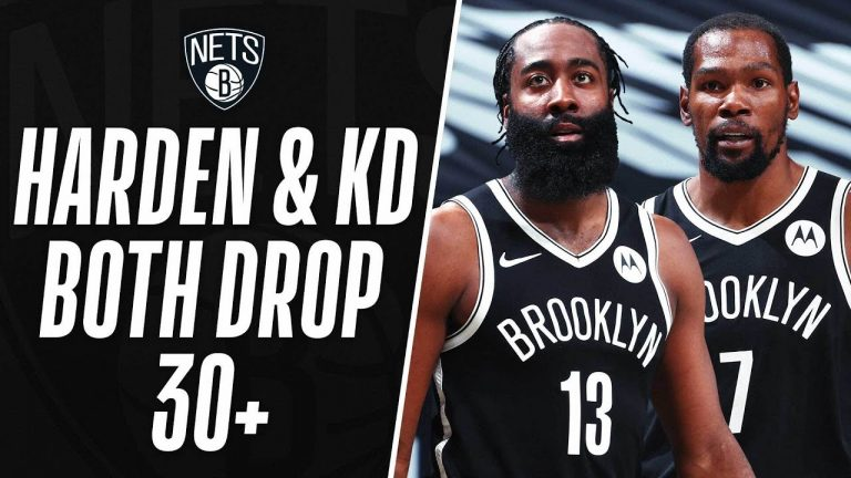 KD & Harden Combine For 42 Of Their 64 In The 2nd Half To Power The Nets 🔥 1