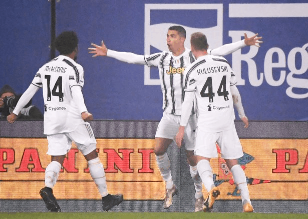Ronaldo's goal helped his side win the Supercoppa