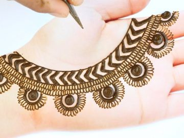 New Easy Stylish Mehndi design - Simple Mehndi design for hands - Beautiful Mehandi ka design 16