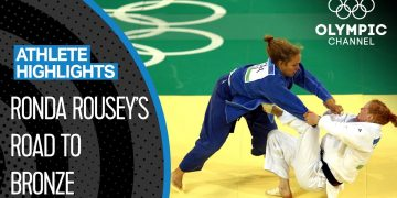 Ronda Rousey 🇺🇸 The 1st US-American to Win an Olympic Medal in Women's Judo | Athlete Highlights 12
