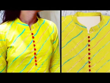 Collar Neck Design || Kurti Collar Neck Easy Cutting and Stitching || Neck Design @RR Fashion Point 9