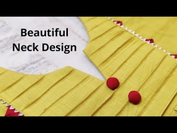 PINTUCK /PINTEX NECK DESIGN FOR PLAIN KURTI EASY CUTTING AND STITCHING || KURTI FRONT NECK DESIGN 5