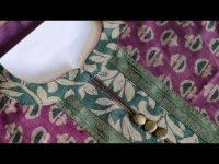 New Collar Kurti Front Neck Design /Flat Round Neck Collar Cutting and Stitching @CNN Kitchen 15