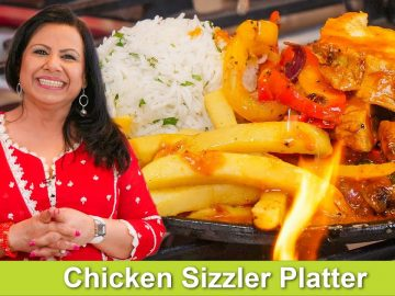 Chicken Sizzler Platter Recipe in Urdu Hindi - RKK