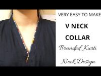 Easy V Collar Neck Design Cutting and Stitching || Kurti Collar Neck (plus size) 9