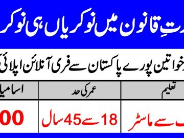New jobs in Ministry of law and justice Pakistan, Apply Online