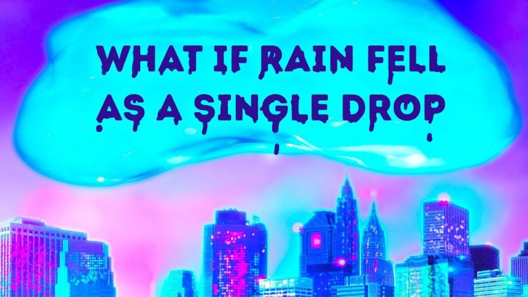 What If It Rained in One Gigantic Drop