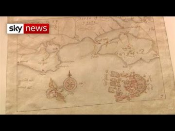 Hand-drawn Spanish Armada maps will be seen after 100 years in storage