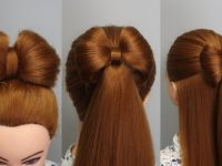 3 EASY HAIRSTYLES with BRAIDES BOW for GIRLS 🎀 12