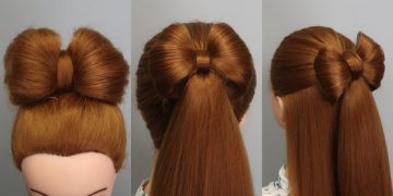 3 EASY HAIRSTYLES with BRAIDES BOW for GIRLS 🎀 8