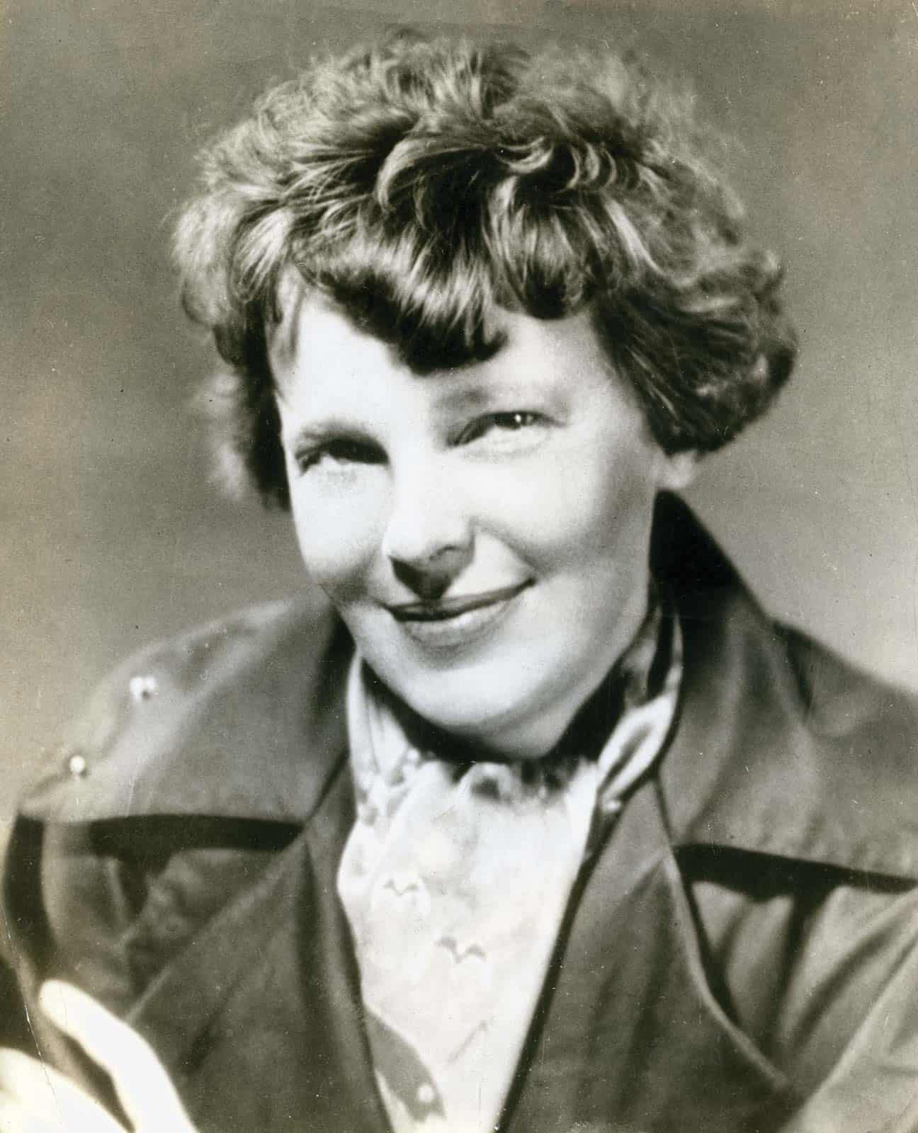 Amelia Earhart, American aviation pioneer and author. 4