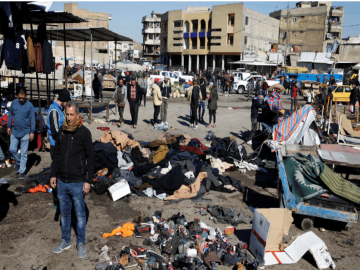 Twin suicide blasts in Baghdad leave 32 dead, 110 wounded 18
