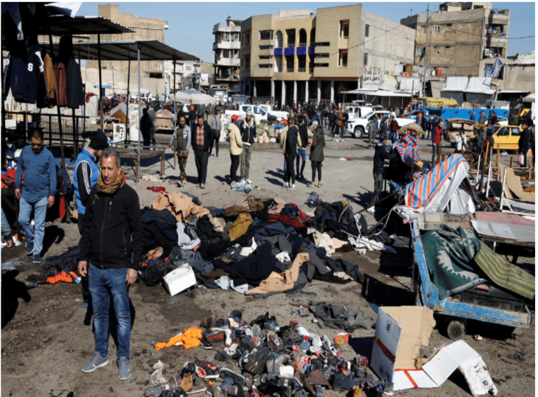 Twin suicide blasts in Baghdad leave 32 dead, 110 wounded 1