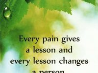Every Pain gives a lesson. 23