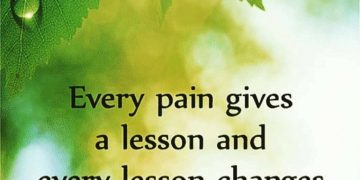 Every Pain gives a lesson. 19