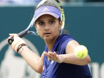 Sania Mirza, an Indian tennis star. 24