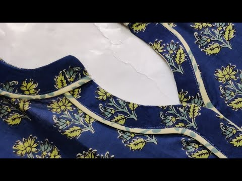 New Collar Neck Design with V Placket    collar neck design    Easy Cutting and Stitching 1