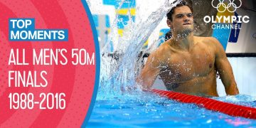 All Men's 50m Freestyle Swimming Finals | Top Moments