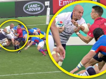 Referee Makes Try Saving Tackle #SHORTS