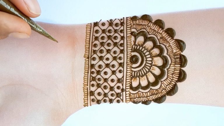 Mehndi designs 2020 new style simple for beginners - Beautiful Mehendi design for front hands 1