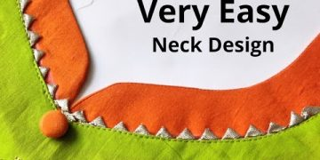 Very Easy Kurti Front Neck Design Cutting and Stitching   New Neck Design   Beginners 14
