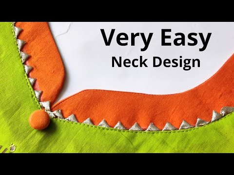 Very Easy Kurti Front Neck Design Cutting and Stitching   New Neck Design   Beginners 1