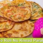 No Roll No Knead Parathas Recipe in Urdu Hindi - RKK