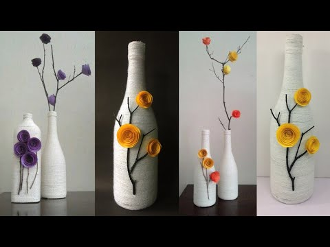 Best out of waste craft ideas | DIY Home Decor Ideas | bottle craft ideas | Decorated Wine Bottle