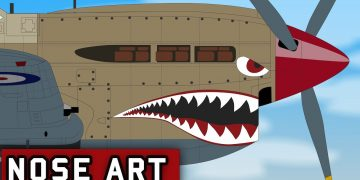 Shark Teeth Nose Art on Military Planes