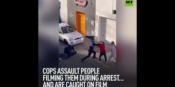 Cops assault people filming them during arrest… and are caught on film