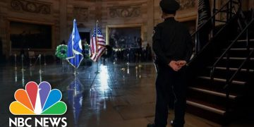 Capitol Police Officer Brian Sicknick Lies In Honor At Capitol   NBC News
