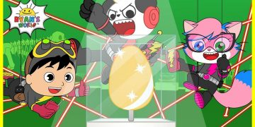 Super Spy Kids with Ryan and Combo Panda for the Golden Egg! |Cartoon animation for Kids! 8