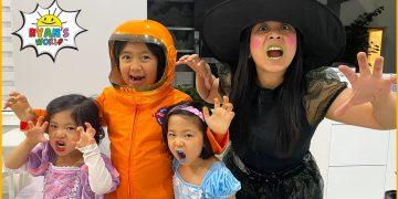 Ryan's Halloween Special Trick or Treat at home!!! 4