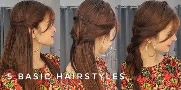 5 Basic Hairstyles || Quick & Easy || Hairstyles To Carry With Bangs 16