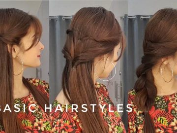 5 Basic Hairstyles || Quick & Easy || Hairstyles To Carry With Bangs 4