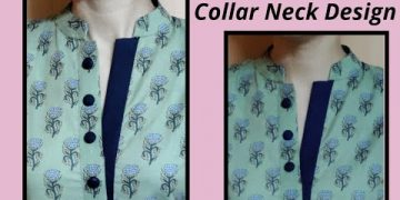 Unique Collar Neck Design with Placket || Easy Cutting and Stitching @RR Fashion Point 10