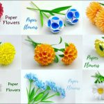 9 Simple and Beautiful Paper Flowers - Paper Craft - DIY Flowers - Home Decor