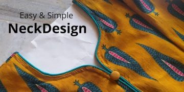Easy and Simple Kurti Neck Cutting and Stitching || Neck Design 9