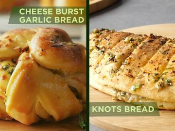 Garlic Bread two Beautiful ways By Food Fusion